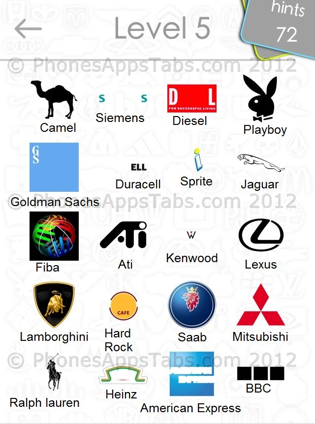 Logo Quiz Answers Level 5 Only Logos Quiz Answ...