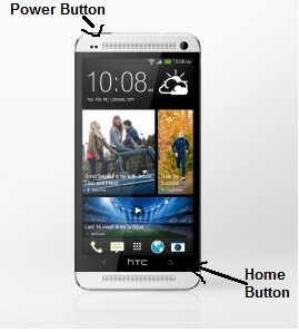HTC One Screenshot - Power and Home Key